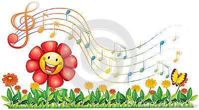 imagenes de rosas musicales uma flor vermelha no jardim com notas musicais fotos de