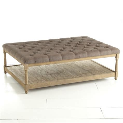 Upholstered Ottoman Coffee Table Upholstered Coffee Table Crafty Diy