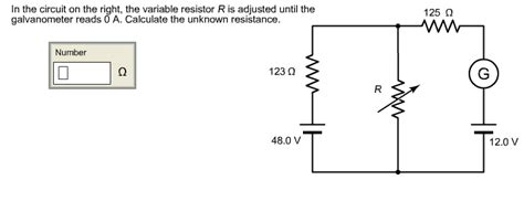 how to measure resistance of a variable resistor in the circuit on the right the variable resistor chegg