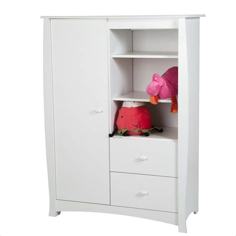 white armoire with drawers south shore beehive 2 drawer armoire in pure white 3640038
