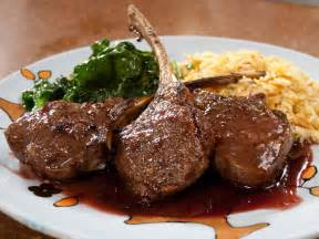 Easy Kitchen Makeovers - lamb chops with pomegranate sauce and saffron pilaf recipe rachael ray food network