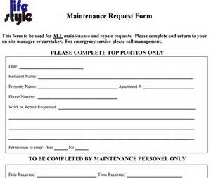 Work Order Maintenance Request Form Template by 6 Free Maintenance Request Form Templates Word Excel