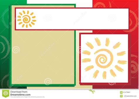 Mexico Brochure Template by Mexican Flag Postcard Brochure Template Stock Illustration