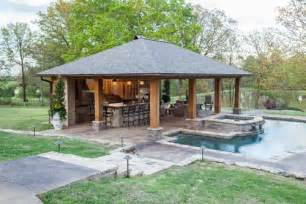 Small Pool Houses rustic mississippi pool house landscaping network