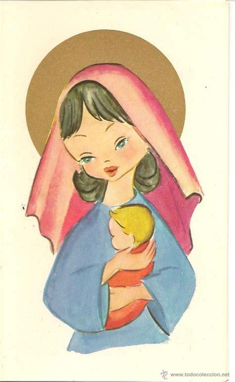 imagenes virgen maria en caricatura bonita postal doble preciosa virgen maria con comprar