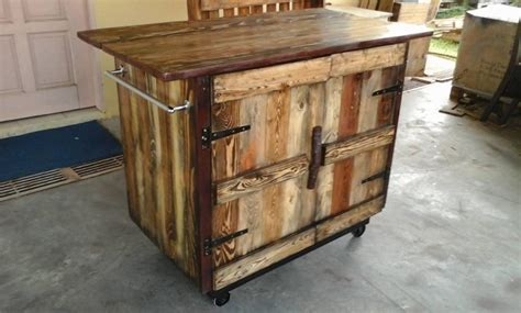 rustic pallet kitchen island cart pallet rustic kitchen island pallet ideas recycled upcycled pallets furniture projects