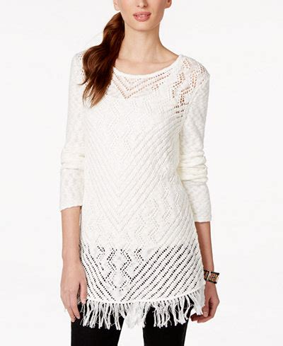 style co knit pattern tunic sweater style co sheer crochet tunic sweater only at macy s