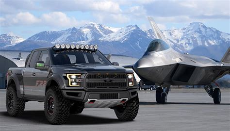 ford raptor vs ford f 150 f 22 raptor inspired ford f 150 raptor heading to auction