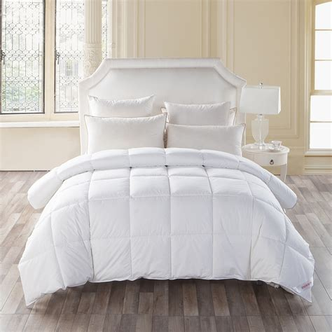 white goose down comforter king all season collection fluffy white goose down alternative