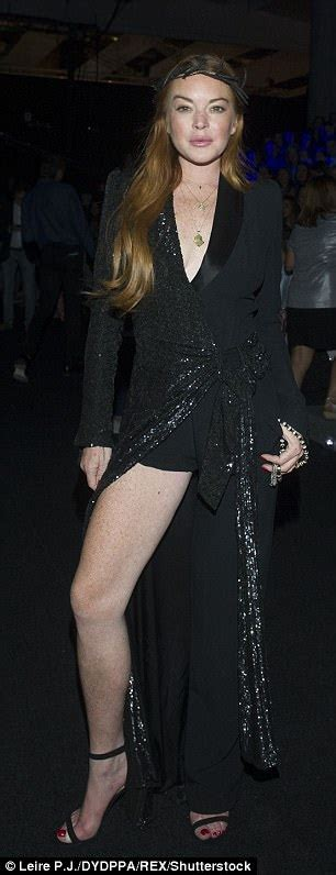 Lindsay Lands Another Fashion Caign by Lindsay Lohan Showcases Kooky Style In Jumpsuit