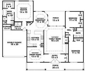 one floor home plans 654233 one story 3 bedroom 2 bath southern country