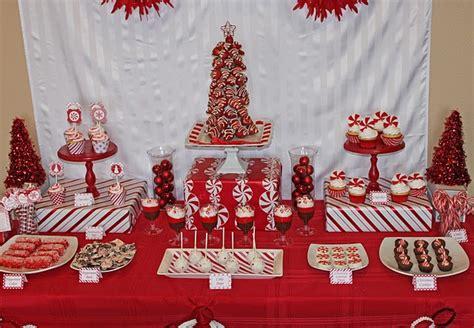 peppermint christmas dessert table peppermint christmas