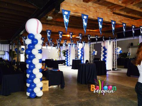 sports themed decorations san diego sports theme decor by balloon utopia
