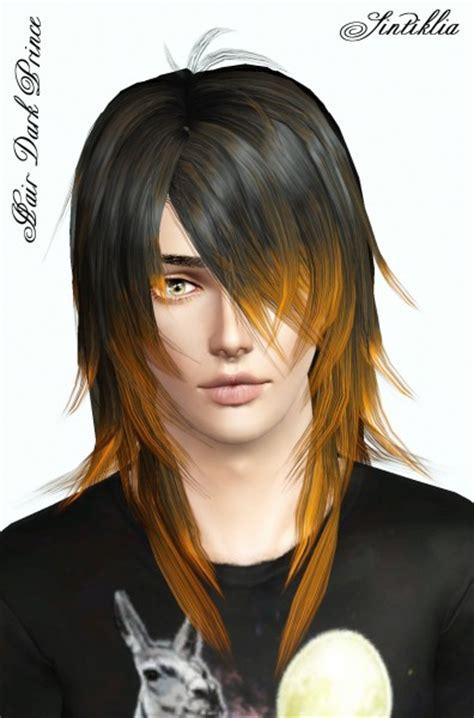 layered hair  jagged edges dark prince  sintiklia sims  hairs