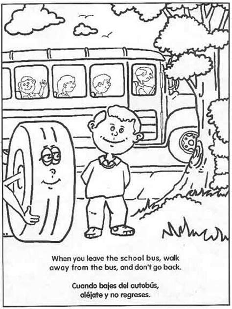 pedestrian safety coloring pages
