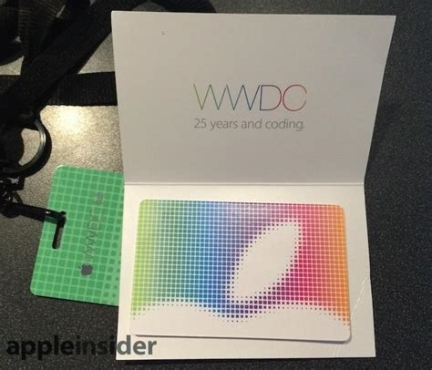 Itunes Gift Card Barcode - wwdc attendees get 2014 jacket 25 itunes gift card
