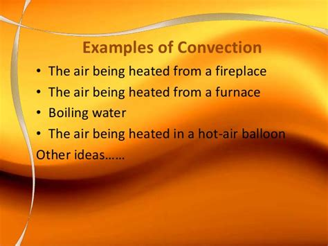 exle of convection the heat is on
