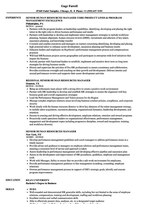 Human Resources Manager Resume by Senior Hr Manager Resume Sle Www Sanitizeuv