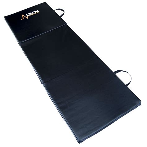 dkn tri fold exercise mat with handles sweatband