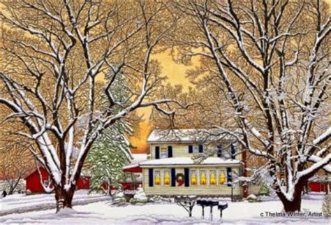 winter gallery artist thelma winter christmas in the