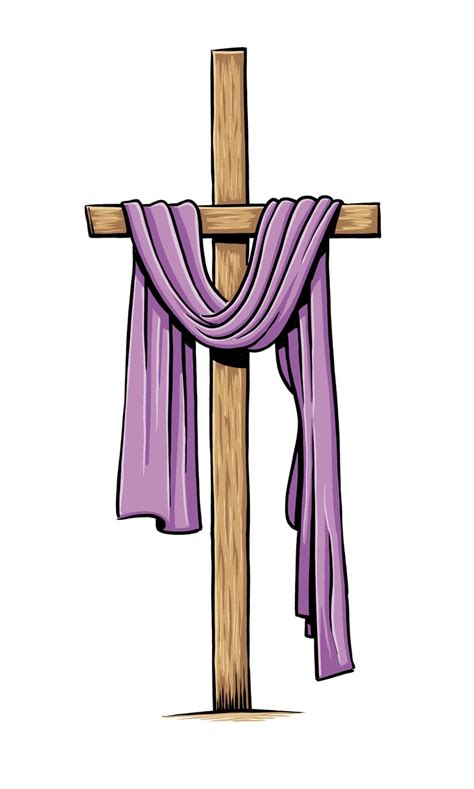 cross with purple drape thank you oh my father for giving us your son and