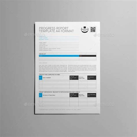 a4 report template progress report template a4 format by keboto graphicriver