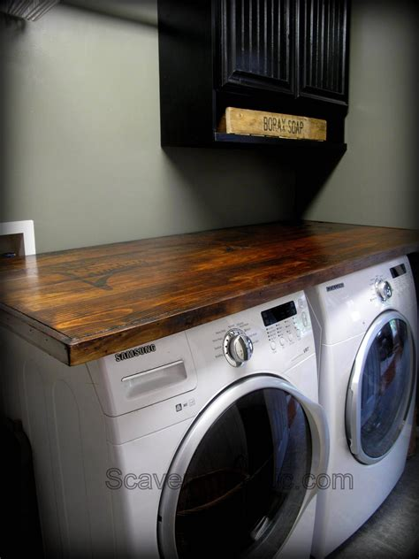 How To Make Your Own Laundry Wood Countertop Kitchen Laundry Wood