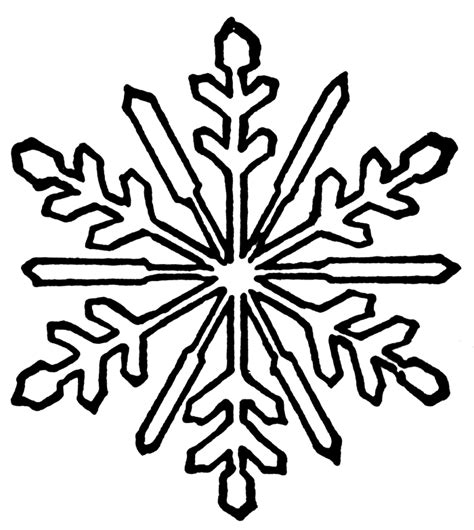 Easy Snowflake Outline by Snowflakes Outline Clipart Best