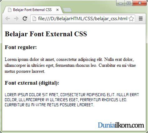 tutorial css font cara menggunakan font external dengan css font face