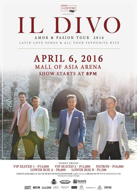il divo in il divo live in manila 2016 philippine concerts