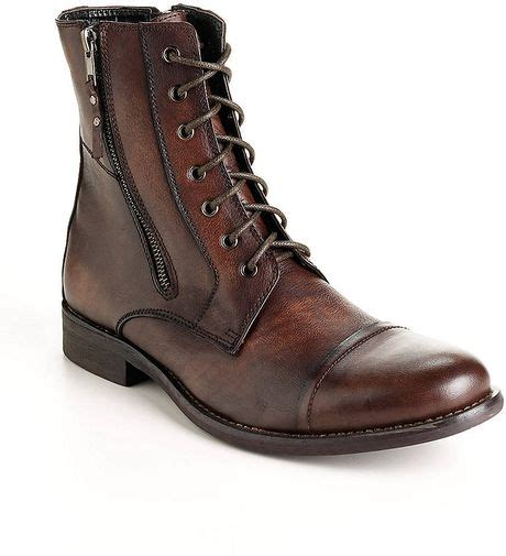 kenneth cole reaction hit boot kenneth cole reaction hit leather boots in brown for