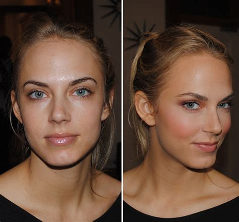 Makeup Modelled After A Cell Phone by No Makeup Model Before And After Www Pixshark
