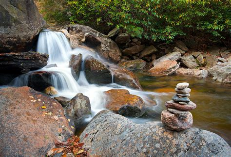 wnc flowing zen waterfalls landscape harmony waterfall