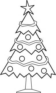 christmas picture outline free printable tree coloring pages for 9 pics how to draw in 1 minute