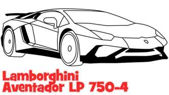 Lamborghini How To Draw How To Draw A Car Lamborghini Aventador Step By Step Easy