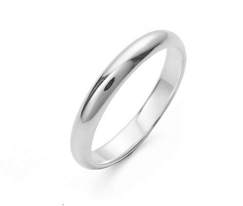 silver comfort 3mm silver comfort fit band anaporium