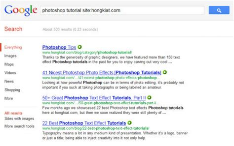 Search For Website 5 Steps To More Accurate And Efficient Search Hongkiat