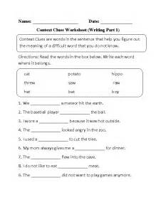 25 best ideas about context clues worksheets on pinterest