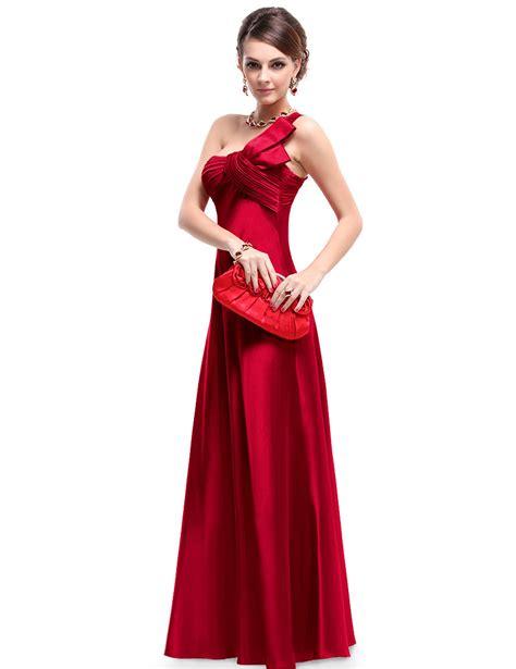 Satin Ruffles Dress nwt one shoulder ruffles satin padded bridesmaid dress pretty wholesale