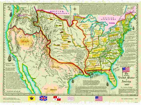 united states map louisiana purchase us historical series