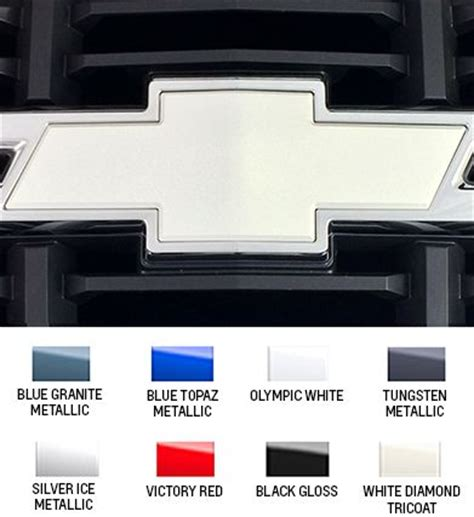 chevy bowtie colors color coded chevrolet bowtie html autos post