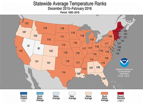 us temperature map february national climate report february 2016 state of the