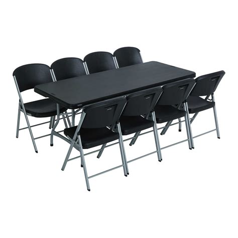 Lifetime Tables And Chairs by Lifetime 6 Ft Rectangular Tables Chairs Black Fast