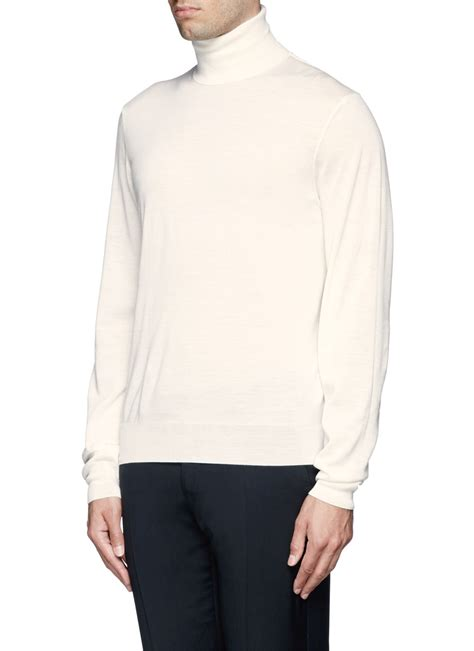 white turtleneck sweater lyst fa 231 onnable cashmere silk turtleneck sweater in