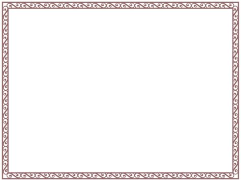 Word Border Templates certificate border templates for word clipart best