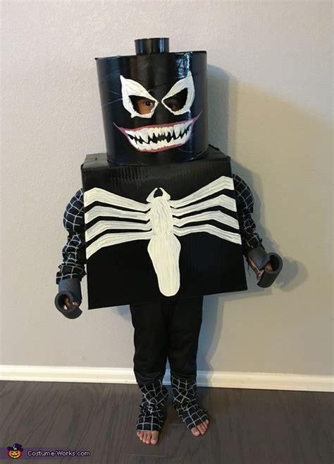 black spider man lego venom costume  minute costume