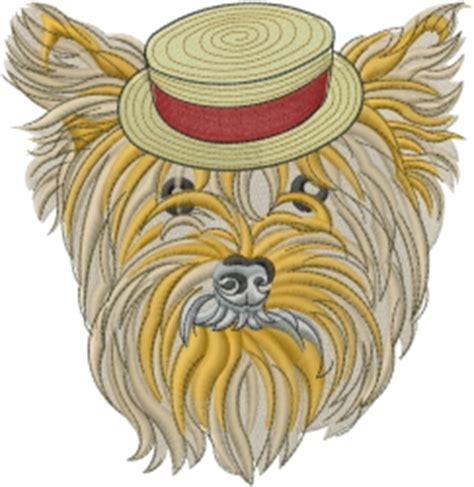 embroidery design yorkshire terrier animals embroidery design yorkshire terrier from machine