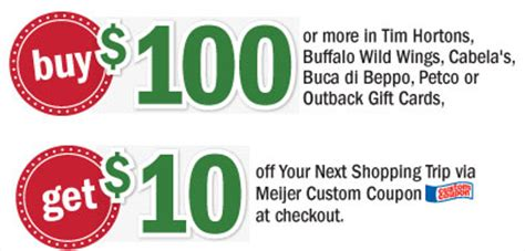 Buffalo Wild Wings Gift Card Discount - meijer buy 100 in cabela s or buffalo wild wings gift cards get 25 in checkout