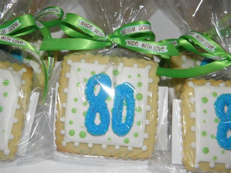 Giveaways Birthday - cookie dreams cookie co 80th birthday cookie favors