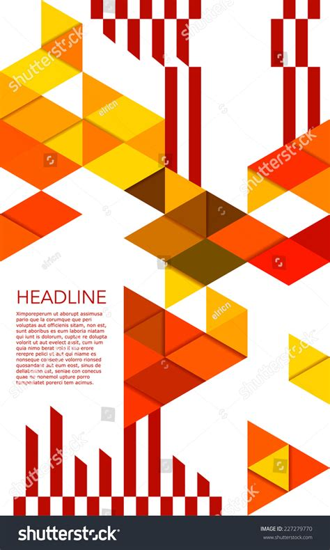 poster abstract layout print geometric vector poster design template stock vector